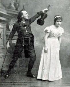 Dr. Miracle and Antonia in the 1881 premiere of The Tales of Hoffmann