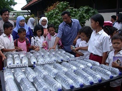Solar water disinfection application in Indonesia