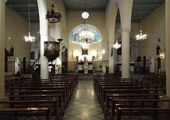 Inside a Syriac Catholic Church building in Damascus, capital city of Syria