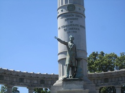 Large Davis memorial on Monument Avenue in Richmond