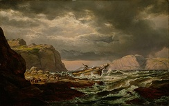 Johan Christian Dahl: Shipwreck on the Coast of Norway, 1832