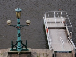 Lamp standard from the 1905 Exe bridge, installed at Butts Ferry on Exeter Quayside in 1983