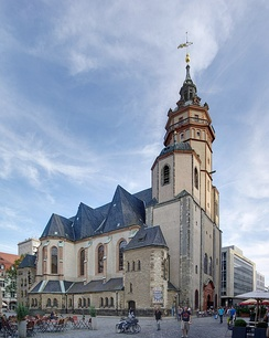 St. Nicholas Church in Leipzig has become a famous symbol of the reunification of Germany.[110]