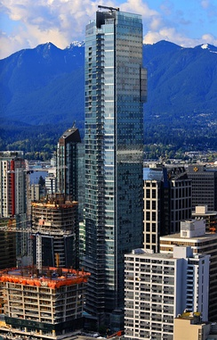 Completed in 2008, Living Shangri-La is the tallest building in Vancouver.