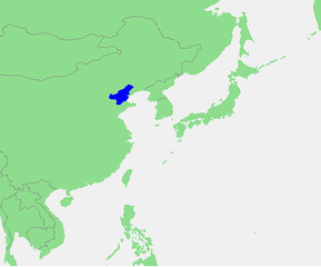 The location of the Bo Hai.