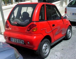 The Indian REVAi 2 door is commercialized as a NEV in the U.S. and as a quadricycle in Europe.