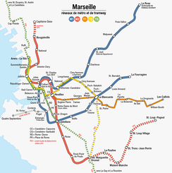 Metro and tramway network