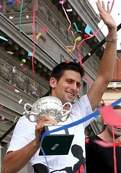 Serbian tennis player Novak Đoković was born in Belgrade. He is a 12-time Grand Slam champion.