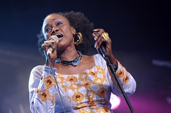 Sangaré performing at the Cambridge Folk Festival 2009