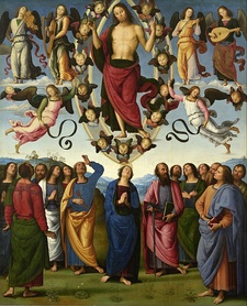 The Ascension, Jesus returning to his Father – by Pietro Perugino (c.1500), Musée des Beaux-Arts de Lyon.