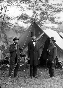 Allan Pinkerton (left) with Abraham Lincoln
