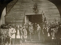 During his 1869 royal tour, Prince Arthur met with the Chiefs of the Six Nations at the Mohawk Chapel.