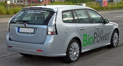 The Saab 9-3 SportCombi BioPower was the second E85 flexifuel model introduced by Saab in the Swedish market.