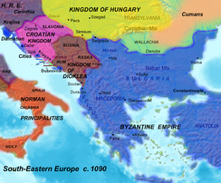 Kingdom of Duklja in the zenith of power, 1080 AD.
