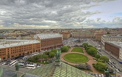 View from the Colonnade, St. Isaac's Cathedral, Saint Petersburg