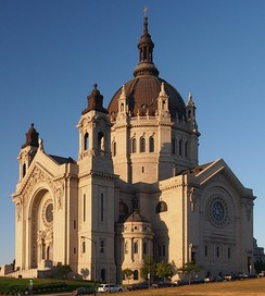 The French Renaissance style Cathedral of St. Paul in the city of St. Paul