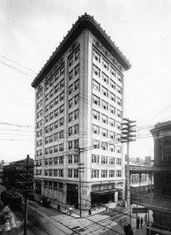 The Van Antwerp Building, completed in 1907.