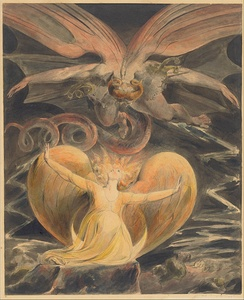 The Great Red Dragon and the Woman Clothed with the Sun (c. 1805) by William Blake