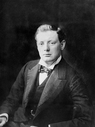 Churchill in 1900 around the time of his first election to Parliament.[46]