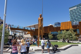 "The ""Wirin"" sculpture at Perth's Yagan Square"