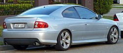 2004–2005 Holden Monaro (VZ) CV8, sharing its bonnet with the rebadged Pontiac GTO (MY06)