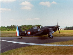 The French Armée de l'Air flew Morane-Saulnier M.S.406 fighters (a preserved specimen is shown).