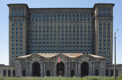 Michigan Central Station and its Amtrak connection went out of service in 1988