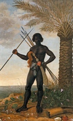 Albert Eckhout, African warrior at the time of Ganga Zumba, leader of the Palmares quilombo