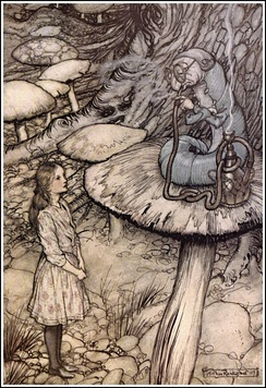 Alice in Wonderland by Arthur Rackham - 05 - Advice from a Caterpillar.jpg