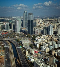 Ayalon Highway which runs through Tel Aviv