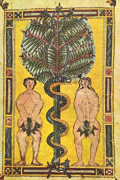 Adam and Eve (Escorial Beatus, 10th century)