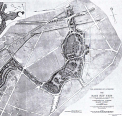 Olmsted's 1887 plan for the Fens