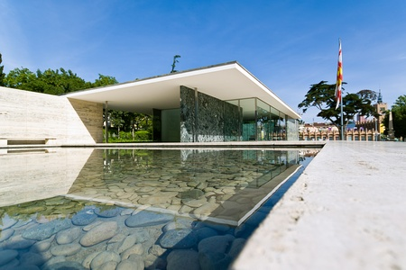 Barcelona Pavilion, by Ludwig Mies van der Rohe was the German Pavilion for the 1929 Barcelona International Exposition