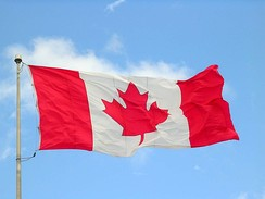 The Canadian flag incorporates a stylized maple leaf