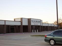 Clear Lake High School, in southeast Houston, is of the Clear Creek ISD