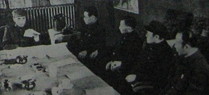 Lin with high-ranking officers under his command (Harbin, 1946)