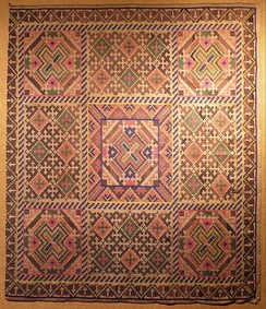 A double ikat weaving made by the Tausug people from Sulu, made of banana leaf stalk fiber (Abacá).