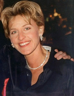 DeGeneres at the Governor's Ball after the 46th Annual Emmy Awards telecast, September 1994