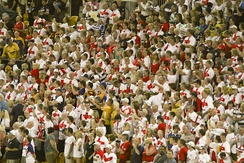 English rugby league fans during the 2008 Rugby League World Cup