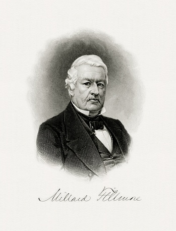 BEP-engraved portrait of Fillmore as president