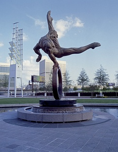 The Flair Monument, erected in remembrance of the games