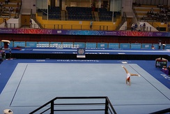 Néstor Abad's on floor exercise in 2010.