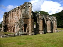 Furness Abbey in Cumbria; dissolved in 1537 and the first of the larger houses to be dissolved by voluntary surrender