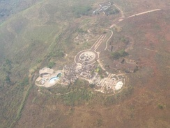 Mobutu's palace in his hometown of Gbadolite, ransacked after his deposition, photographed in c.2010