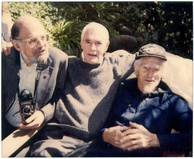 Springfield LSD activist Timothy Leary sitting between Allen Ginsberg (left) and Dr. John C. Lilly
