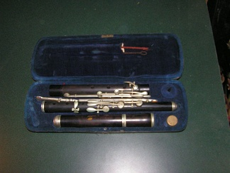 An early keyed H.F. Meyer all-wood construction flute in case