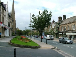 The Grove, Ilkley's principal shopping street, designed with wide pavements for promenading
