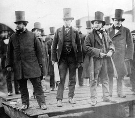 Isambard Kingdom Brunel, William Harrison, John Scott Russell and others at the launching of the SS Great Eastern, London 1857