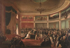 The Oath of the Princess Imperial Isabel as regent of the Empire of Brazil, c. 1870.