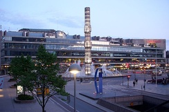 Kulturhuset at Sergels torg served as a temporary seat for the Riksdag, from 1971 to 1983, while the Riksdag building on Helgeandsholmen underwent renovation.
